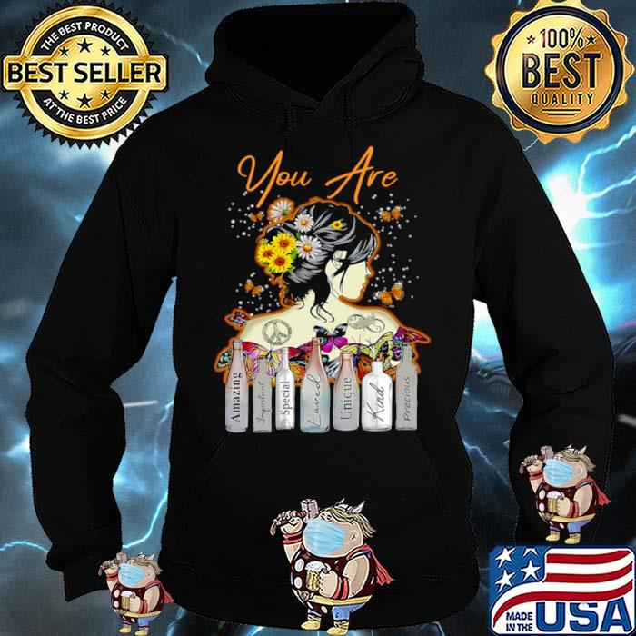 Girl Sunflower You Are Amazing Important Special Loved Unique Kind Precious T Hoodie