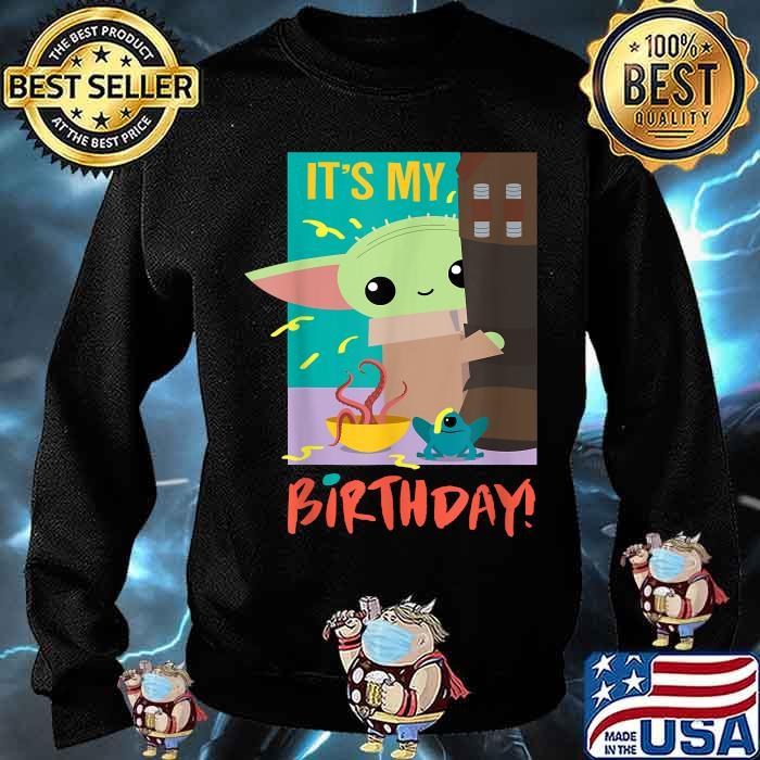 It's My Birthday Baby Yoda Star Wars The Mandalorian Shirt Sweater