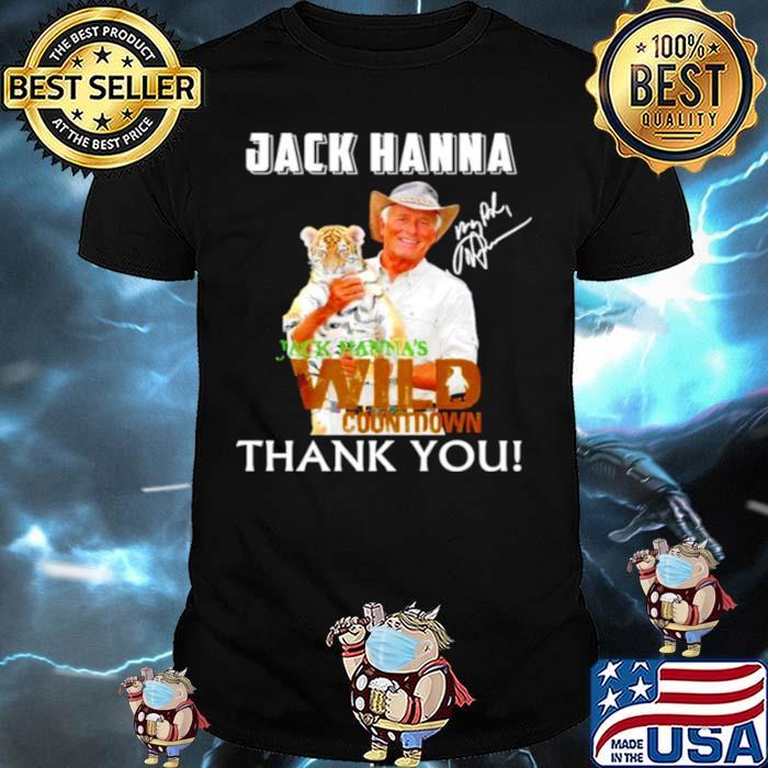 Jack Hanna wild countdown thank you signature shirt