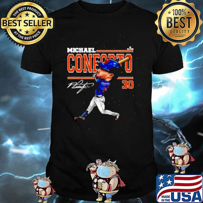 Michael Conforto Cartoon signatures shirt