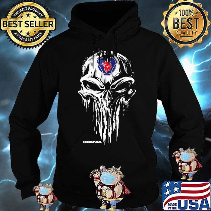 Punisher With Scania Logo Shirt Hoodie