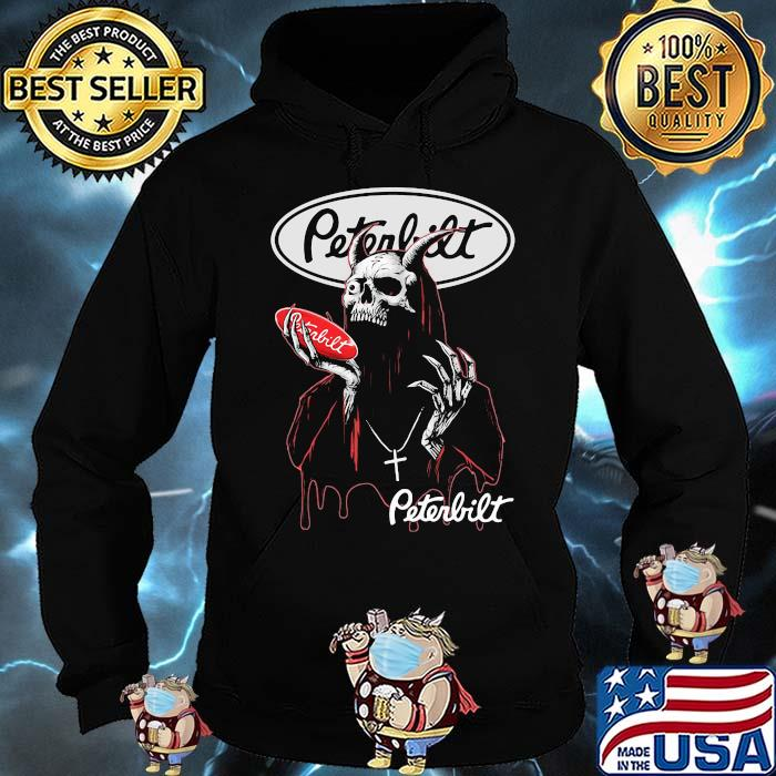 Skull Hold Peterbilt Logo Shirt Hoodie