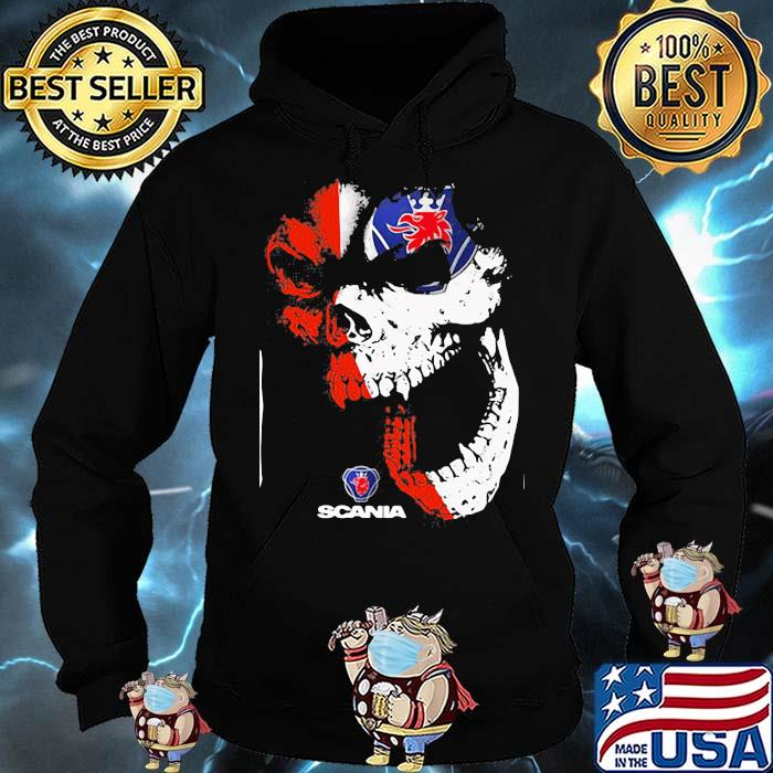 Skull With Scania Logo Shirt Hoodie