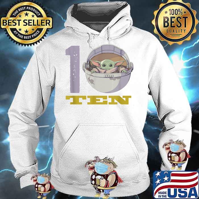 Star Wars The Mandalorian 10th Birthday Baby Yoda Shirt Hoodie