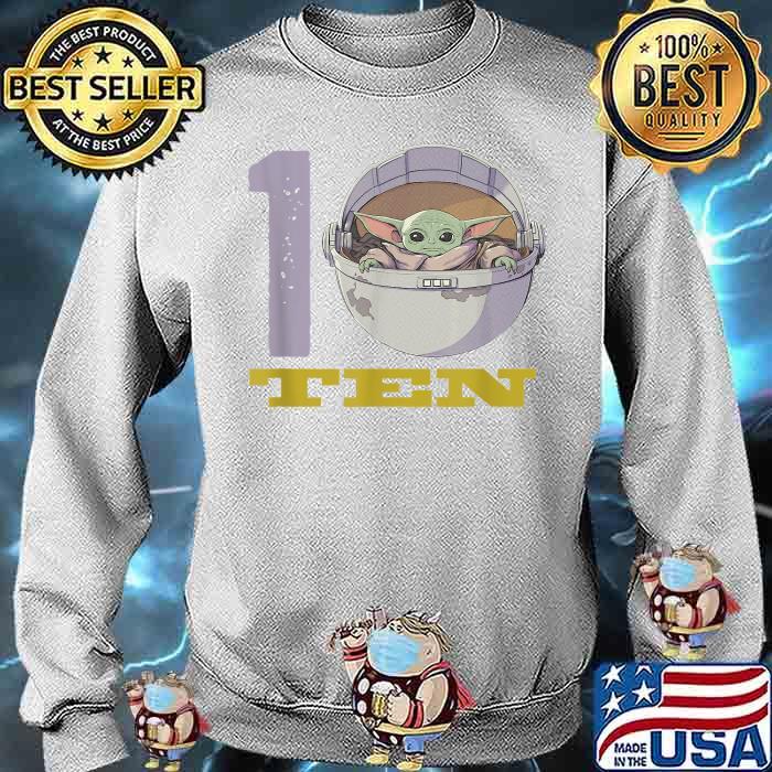 Star Wars The Mandalorian 10th Birthday Baby Yoda Shirt Sweater