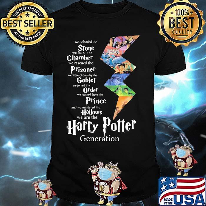 Stone Champer Prisoner Goblet Order Prince We Are The Harry Potter Generation Shirt