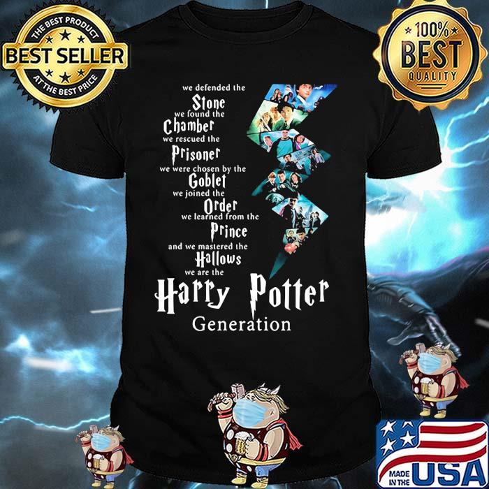 We Defended The Stone We Found The Chamber Prisoner Goblet Harry Potter Generation Shirt