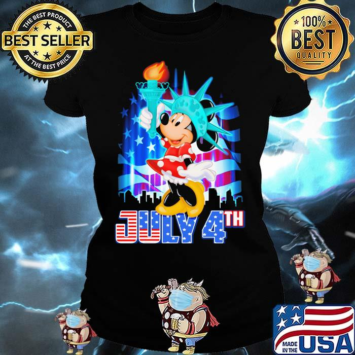 July 4th Independence Minnie Mouse disney Shirt Ladies tee