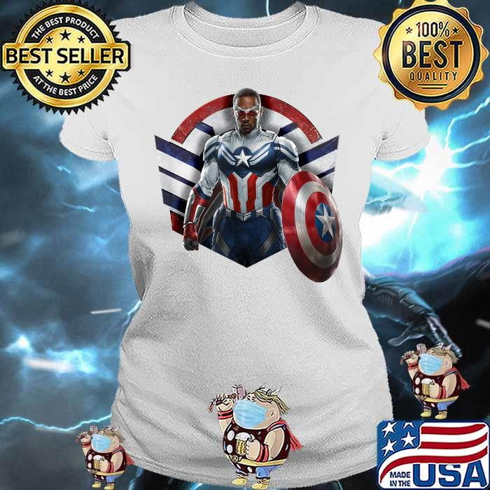 Marvel The Falcon the Winter Soldier Captain America Strong Shirt Ladies tee