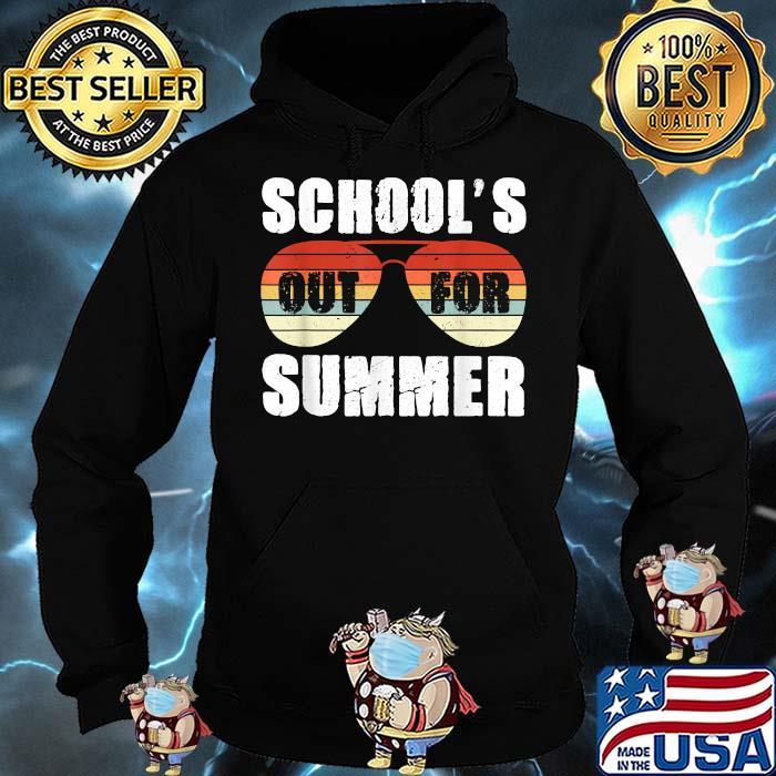 Schools Out For Summer Teacher Sunglasses Vintage Shirt Hoodie