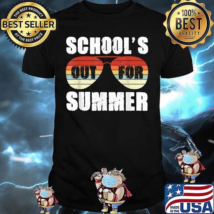 Schools Out For Summer Teacher Sunglasses Vintage Shirt